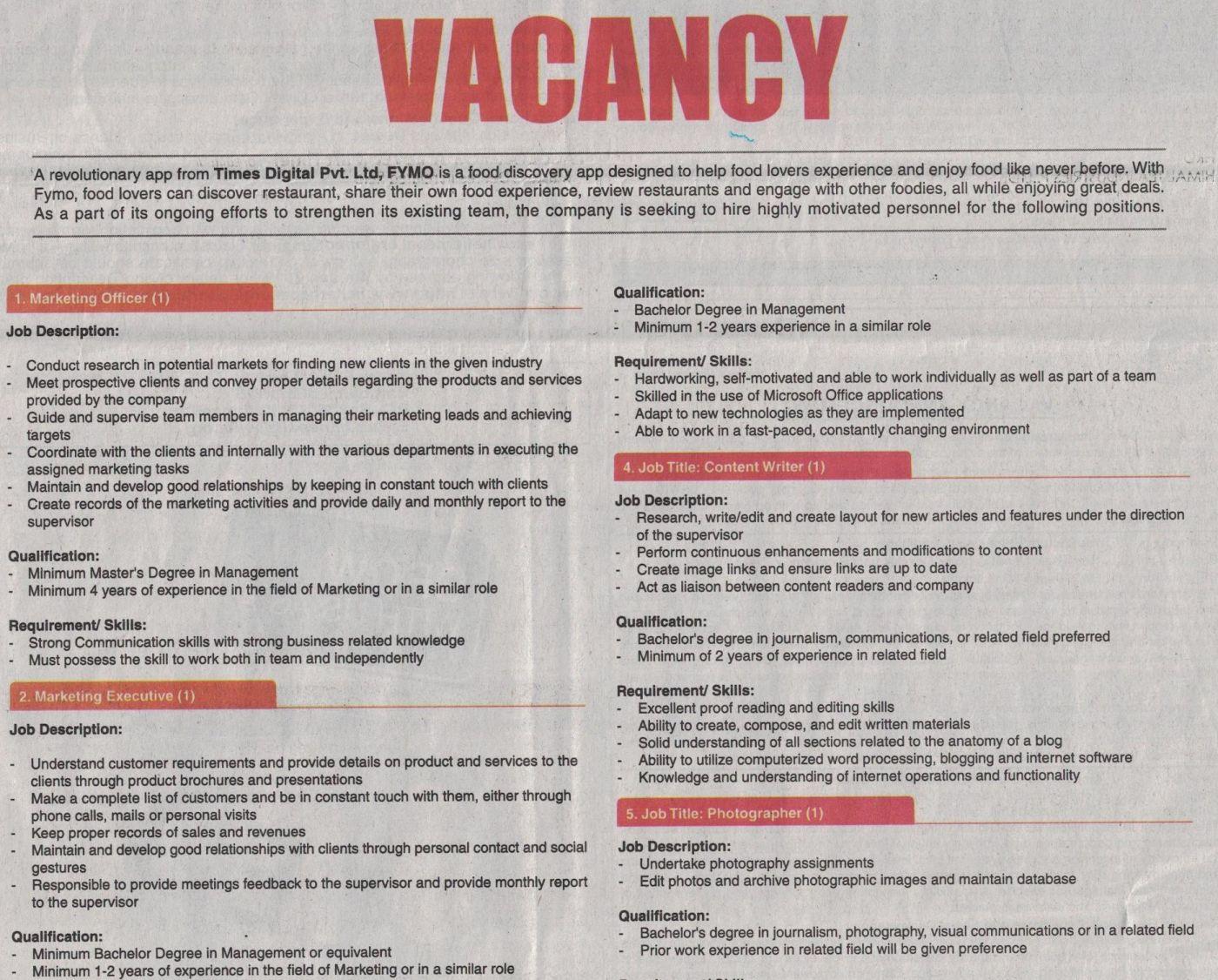 Jobs Nepal - Vacancy - Marketing Officer, Marketing