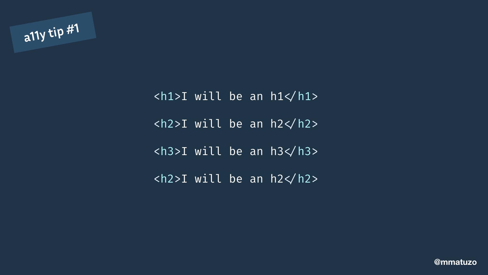 I will be an h1I will be an h2I will be an h3I will be an h2