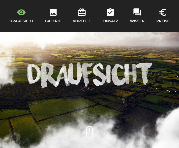 draufsicht.com decreases the font size significantly, but adds icons to each link on mobile.