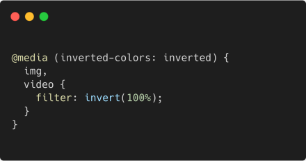 You can target Inverted Colors Mode mode in CSS