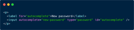 "If an input element has the attribute value autocomplete=""new-password"", browsers can suggest securely-generated passwords."
