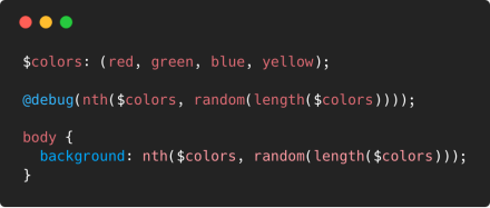 How to get a random background-color (or any other value) each time I compile Sass.