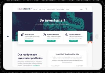 Investsmart homepage