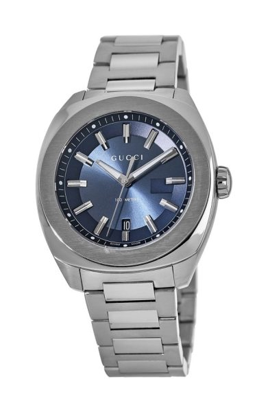 76060386ae9 Gucci GG2570 Blue Dial Stainless Steel Men s Watch YA142303 ...