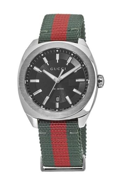 54718ab6230 Gucci GG2570 Black Dial Brown Leather Strap Men s Watch YA142207 ...