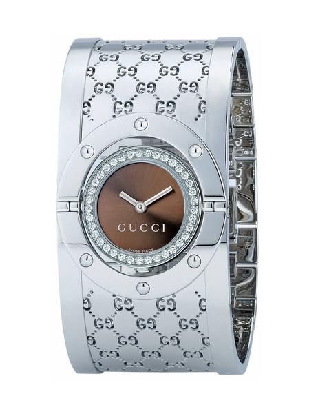 bbcf9b5ebd2 Gucci Twirl Bangle Bracelet 23mm Brown Dial Women s Watch YA112401 ...