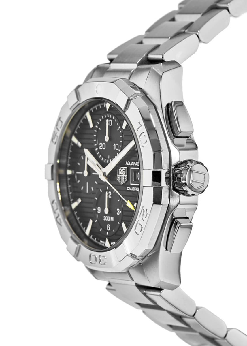 more photos 8bd51 f7e54 Tag Heuer Aquaracer 300M Automatic Chronograph Calibre 16 Black Dial Steel  Men's Watch CAY2110.BA0927