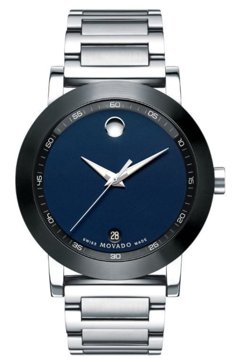 Movado Museum Blue Dial Stainless Steel Men S Watch 0607004