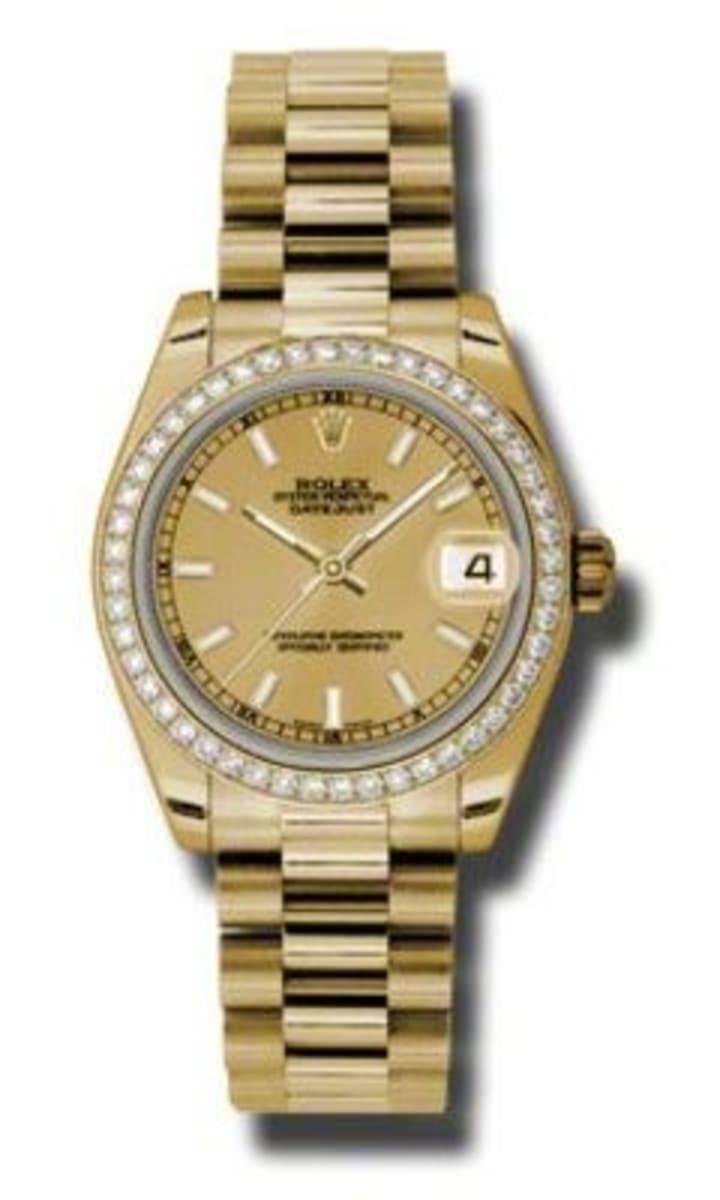Rolex Datejust 31 18k Yellow Gold Presidential Bracelet Women\u0027s Watch  178288,CHI