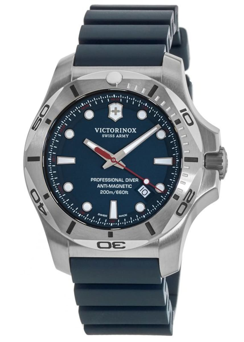Victorinox Swiss Army I N O X Professional Diver Blue Dial Rubber Strap Men S Watch 241734