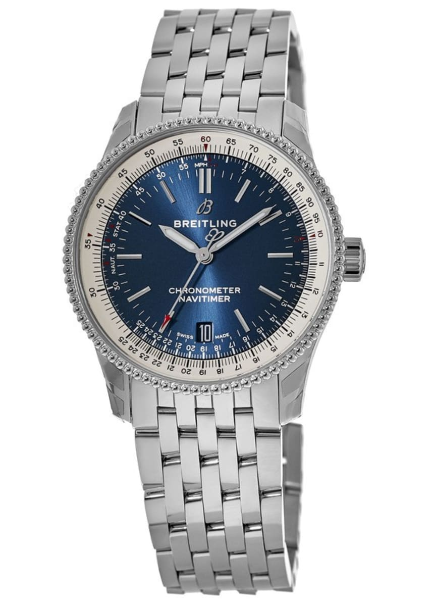 Breitling Navitimer 1 Automatic 38 Blue Dial Stainless Steel A17325211c1a1 Men S Watch A1732521 Ca11 455a