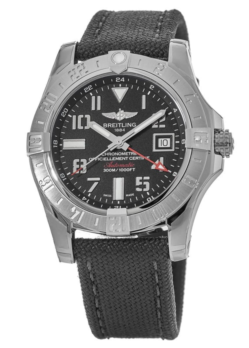 brand new 41fb6 5bab7 Breitling Avenger Avenger II GMT Volcano Black Dial Anthracite Fabric Men's  Watch A3239011/BC34-109W