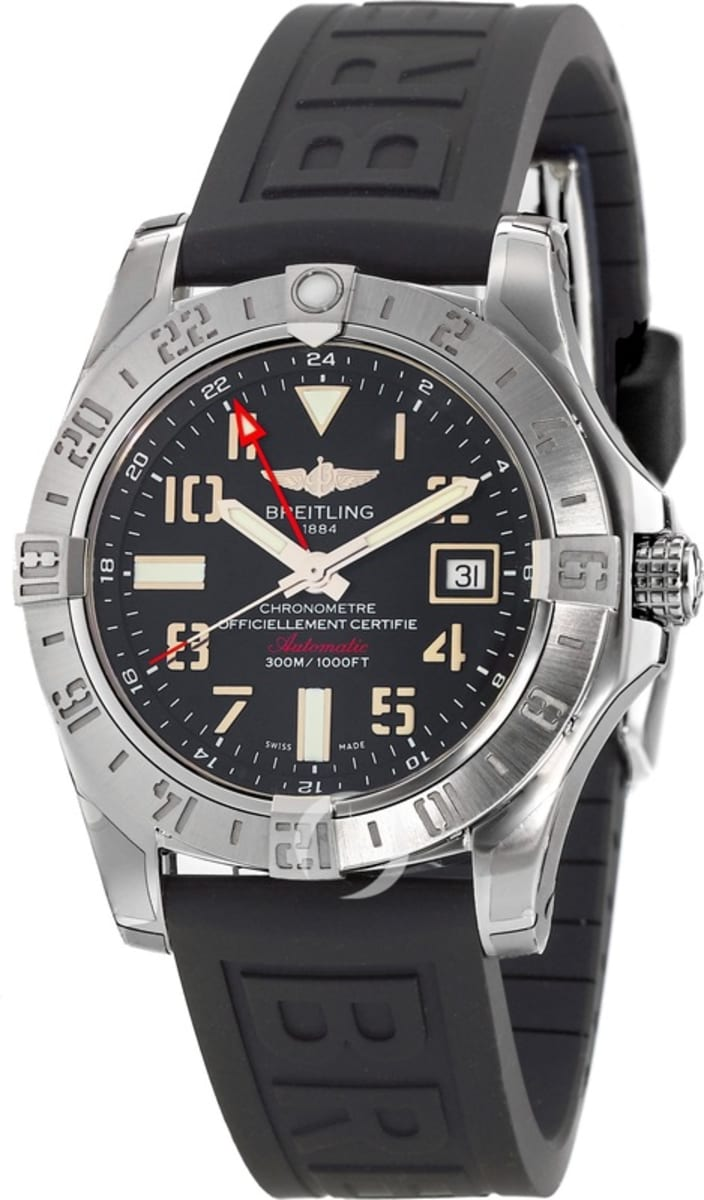 half off 4aa18 8f224 Breitling Avenger Avenger II GMT Black Arabic Dial Tang Rubber Strap  A32390111B2S2 Men's Watch A3239011/BC34-152S A32390111B2S2