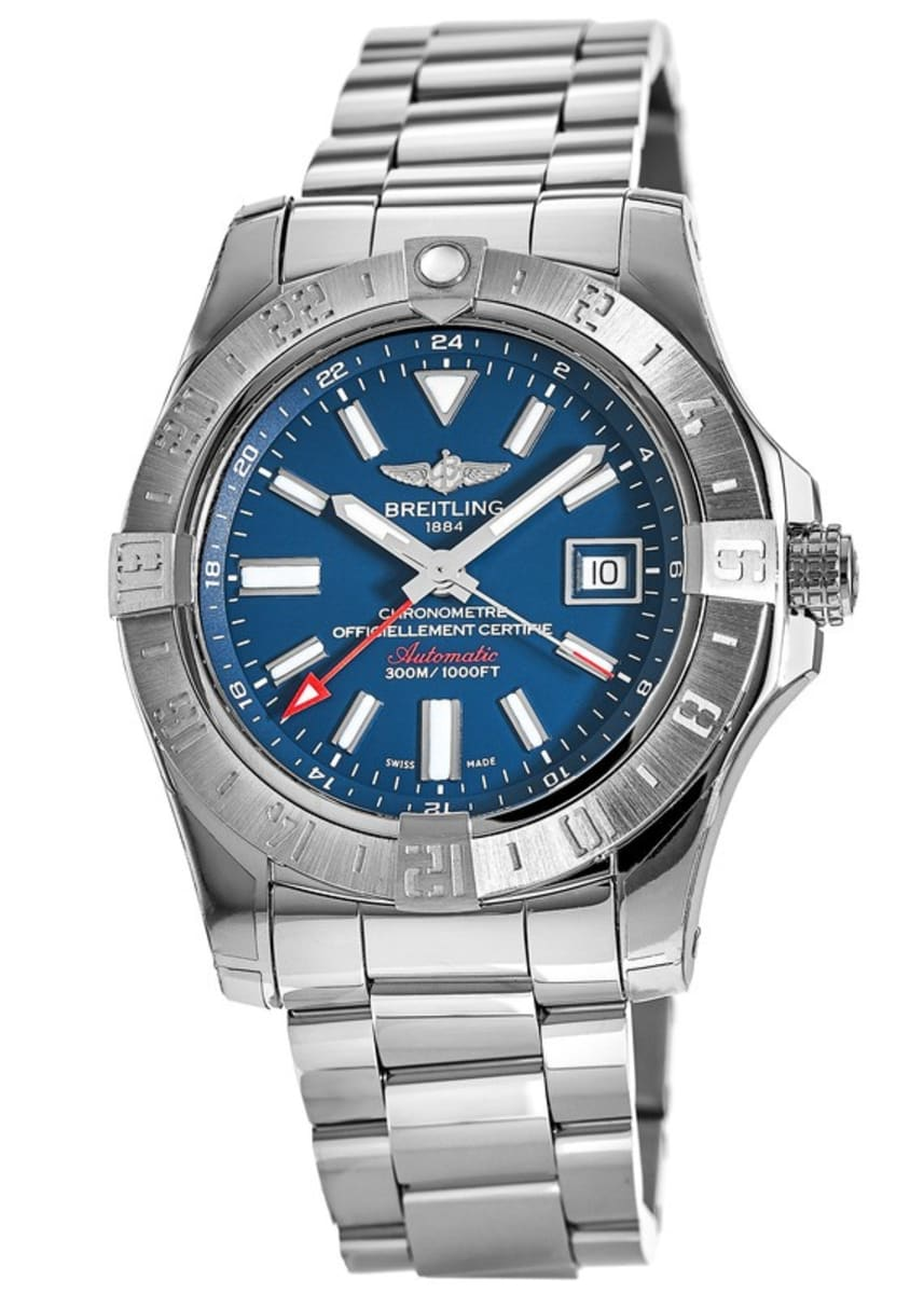 factory price f87d1 9841b Breitling Avenger Avenger II GMT Blue Dial Stainless Steel Men's Watch  A3239011/C872-170A A32390111C1A1