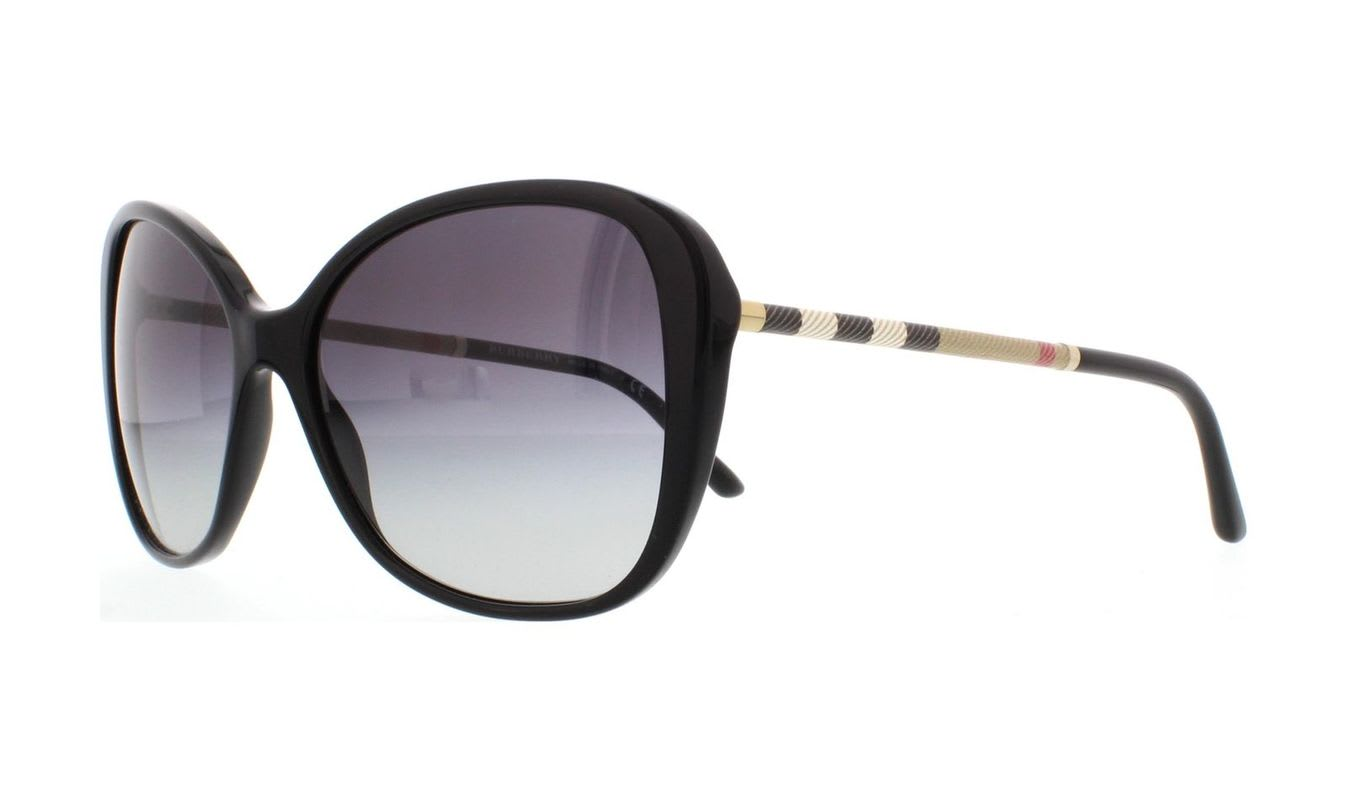 sale usa online hot-selling clearance attractive style Burberry Women's Cateye Plastic Black Grey Sunglasses Sunglasses  BE4235Q-30018G-57