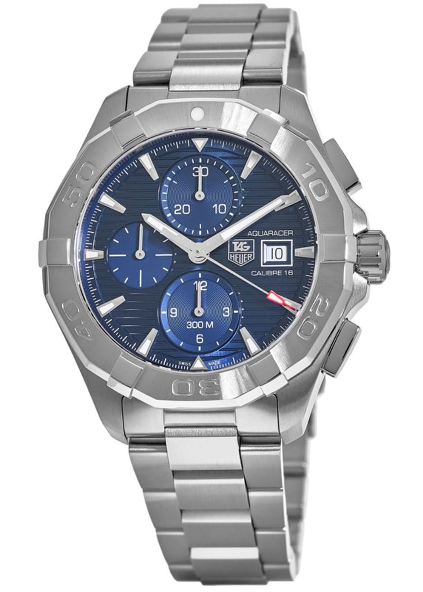 wholesale dealer e8ecd 53117 Tag Heuer Aquaracer 300M Automatic Chronograph Blue Dial Steel Men's Watch  CAY2112.BA0927