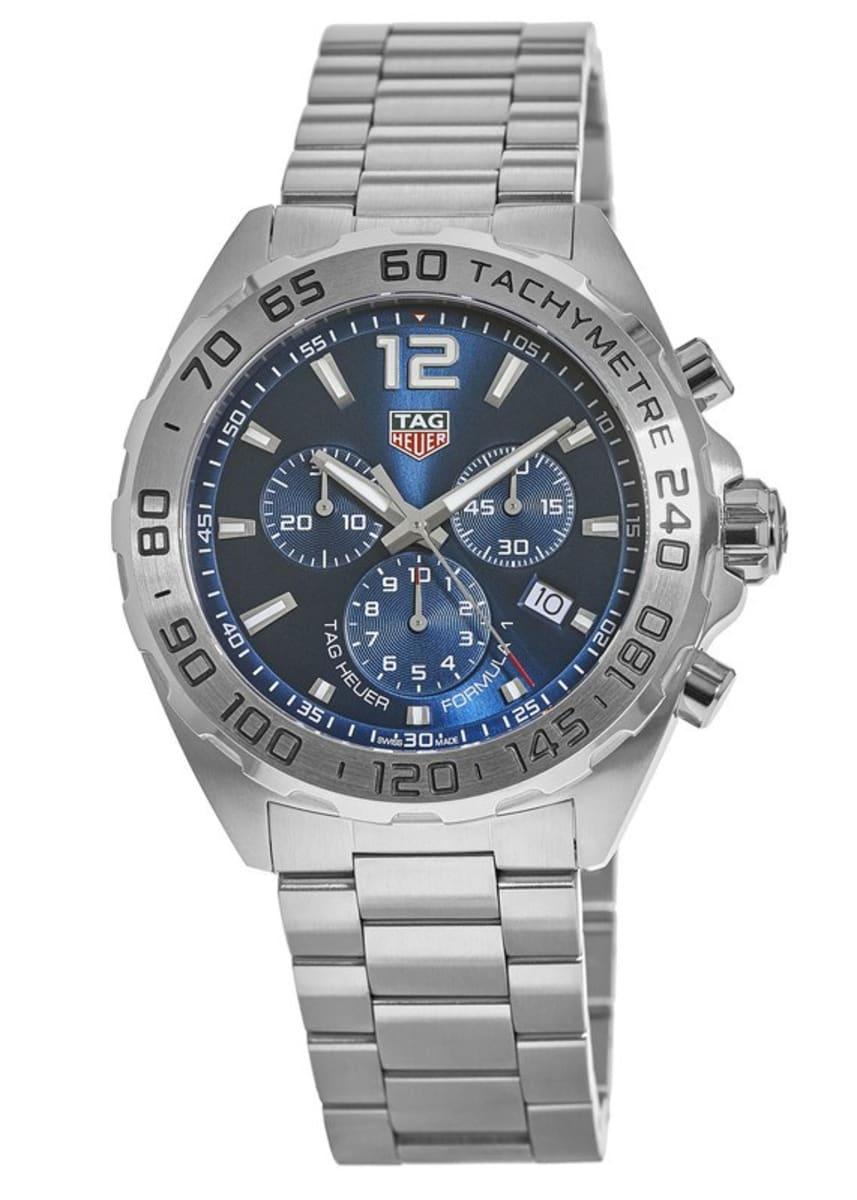 new arrival d7189 61c46 Tag Heuer Formula 1 Quartz Chronograph Blue Dial Stainless Steel Men's  Watch CAZ101K.BA0842