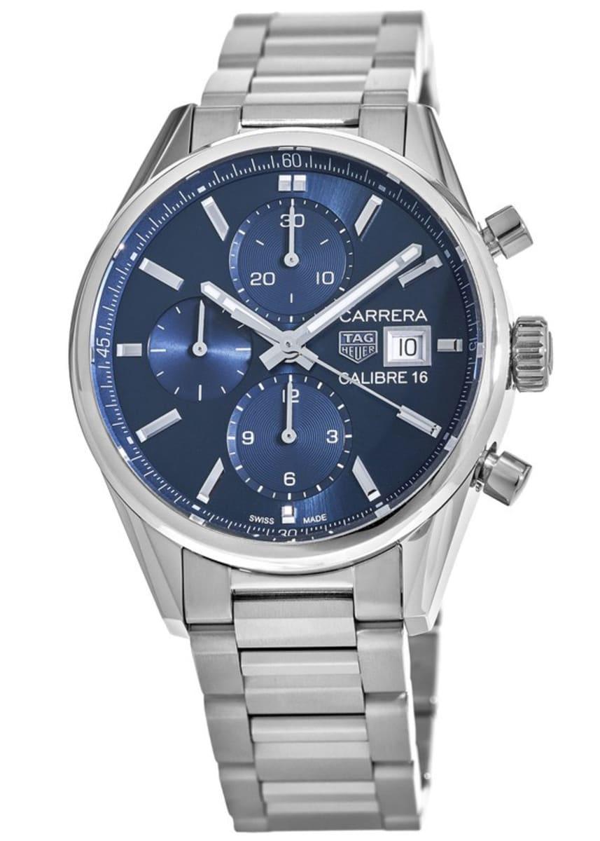 quality design 7519c 060aa Tag Heuer Carrera Calibre 16 Chronograph Blue Dial Steel Men's Watch  CBK2112.BA0715