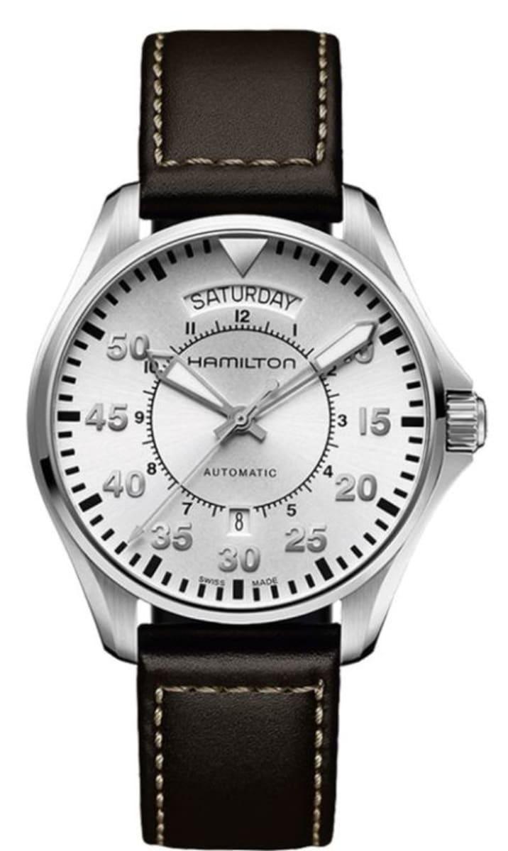 Hamilton Khaki Aviation Pilot Day Date Auto Men S Watch H64615555