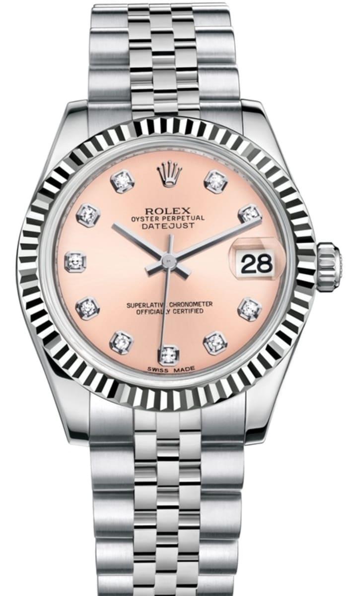 Rolex Datejust 31 Pink Diamond Dial Women\u0027s Watch M178274,0022