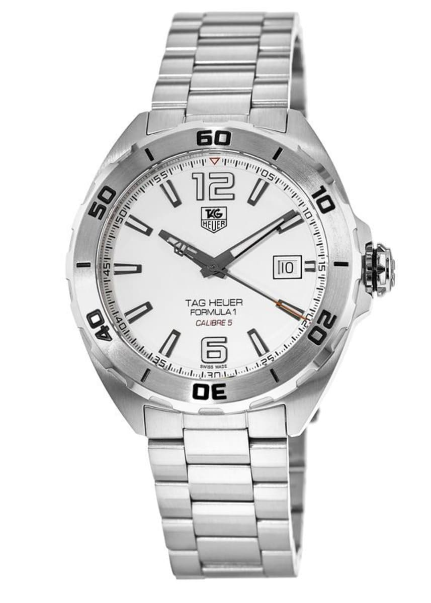 Tag Heuer Formula 1 Automatic White Dial Men S Watch Waz2114 Ba0875