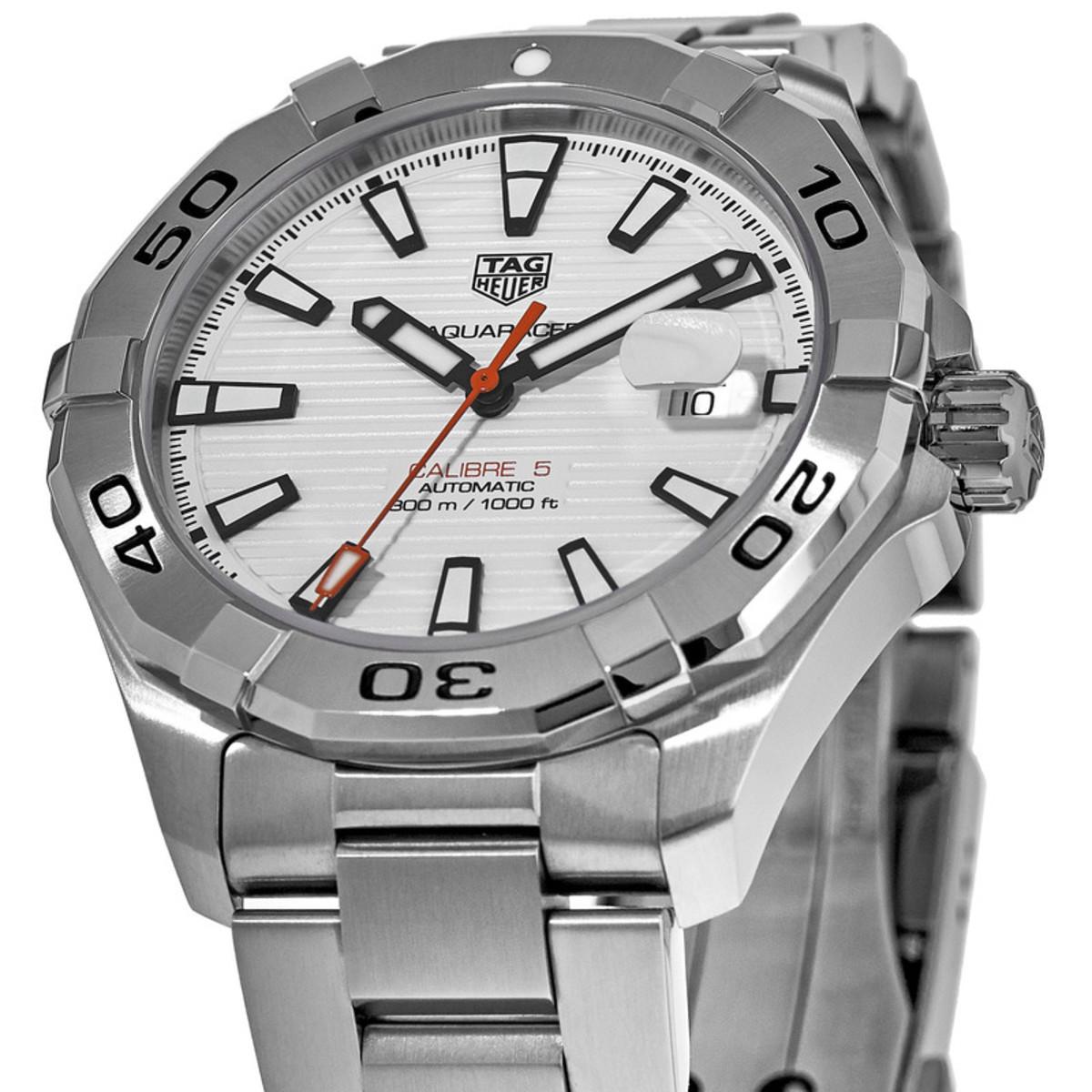 d5387426b0aa Aquaracer 300M Automatic White Dial 43mm Steel Men s Watch
