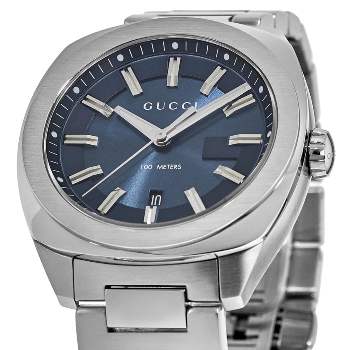20466b8eebb Gucci GG2570 Blue Dial Stainless Steel Men s Watch YA142303 ...