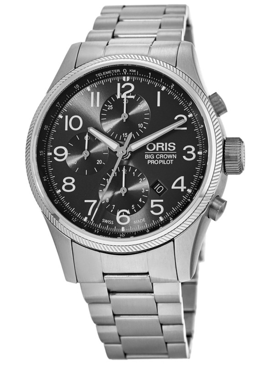 8437d7768 Oris Big Crown ProPilot Chronograph Grey Dial Stainless Steel Men's ...