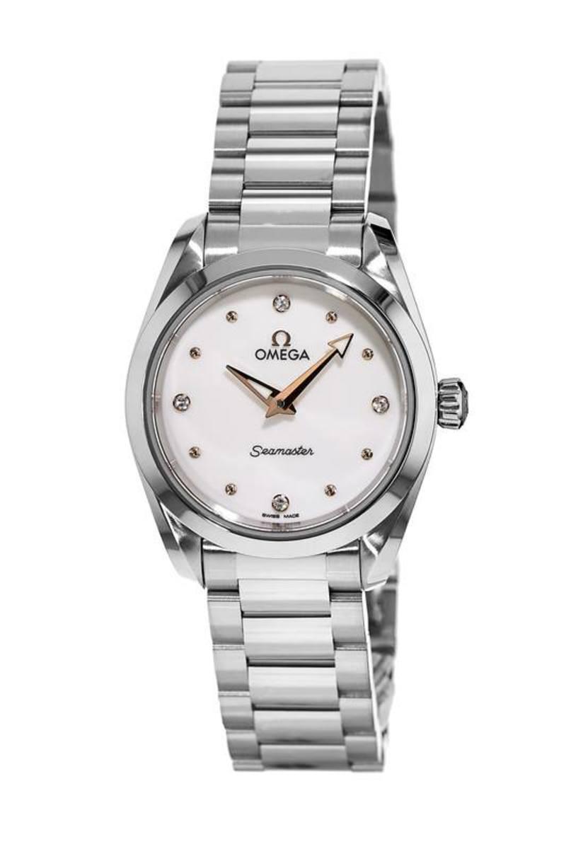 c2e7e0858927 Seamaster Aqua Terra 150M Quartz 28 MM Shimmer White Dial Stainless Steel Women's  Watch
