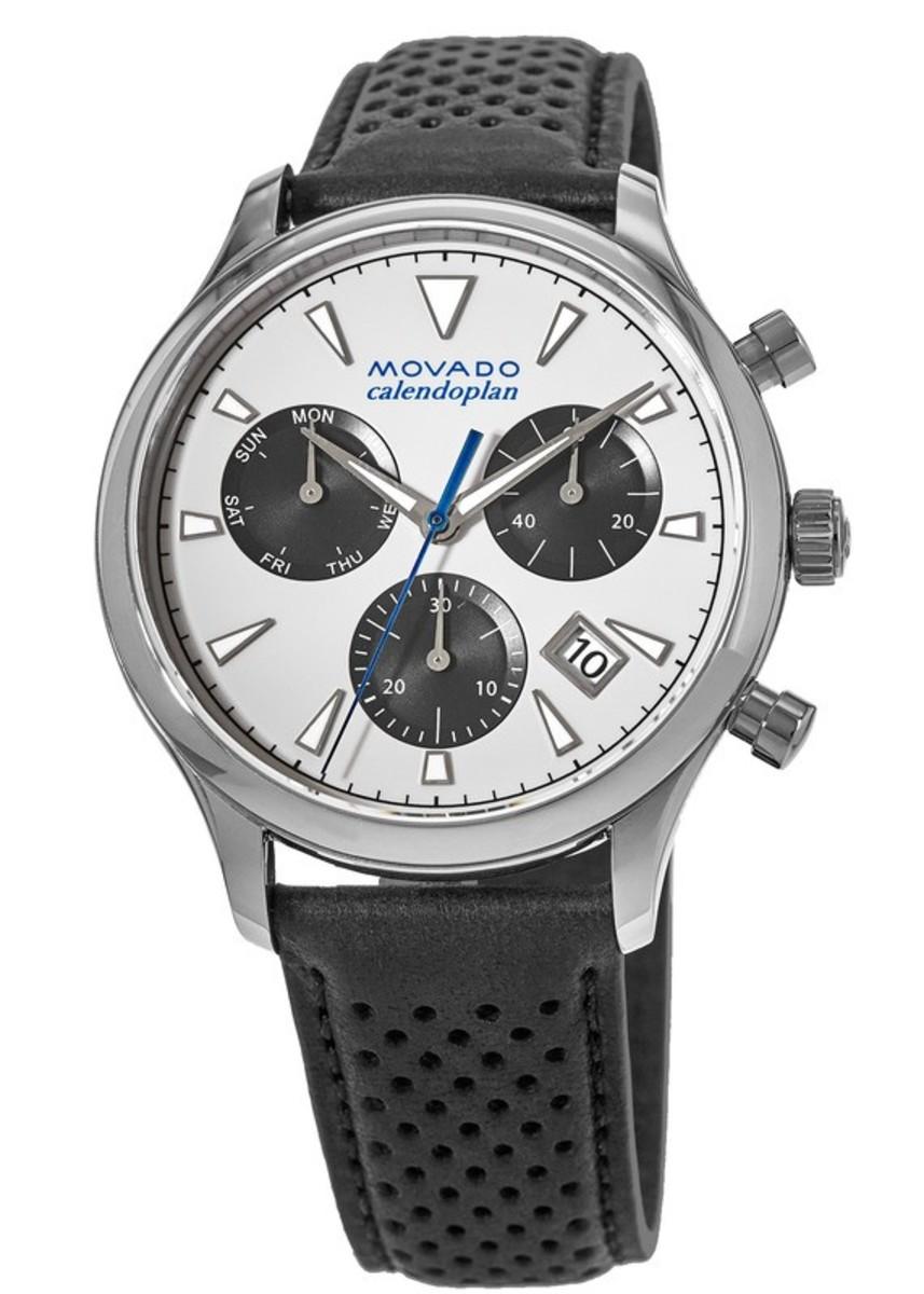 2cb20043d Movado Heritage Calendoplan Chronograph Leather Strap Men's Watch ...