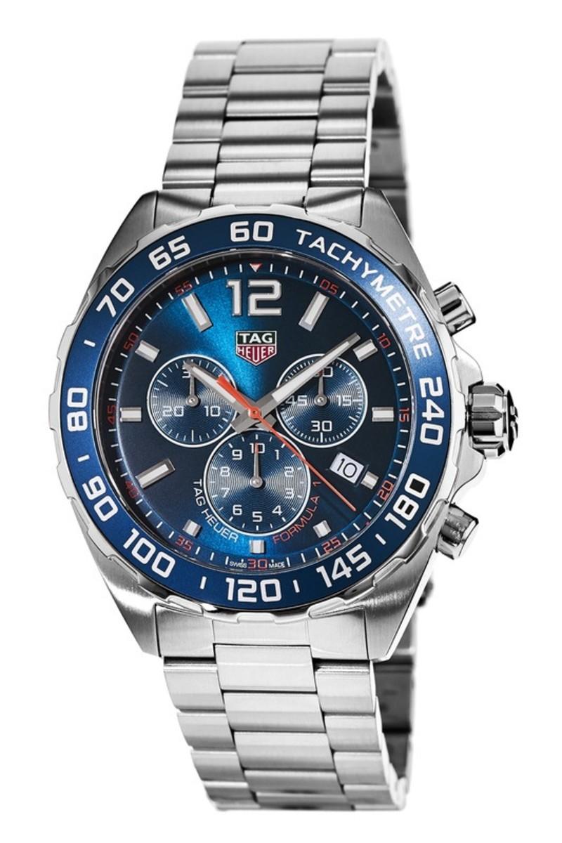 6d5c2c752ef Tag Heuer Formula 1 Quartz Chronograph Blue Dial Steel Men's Watch ...