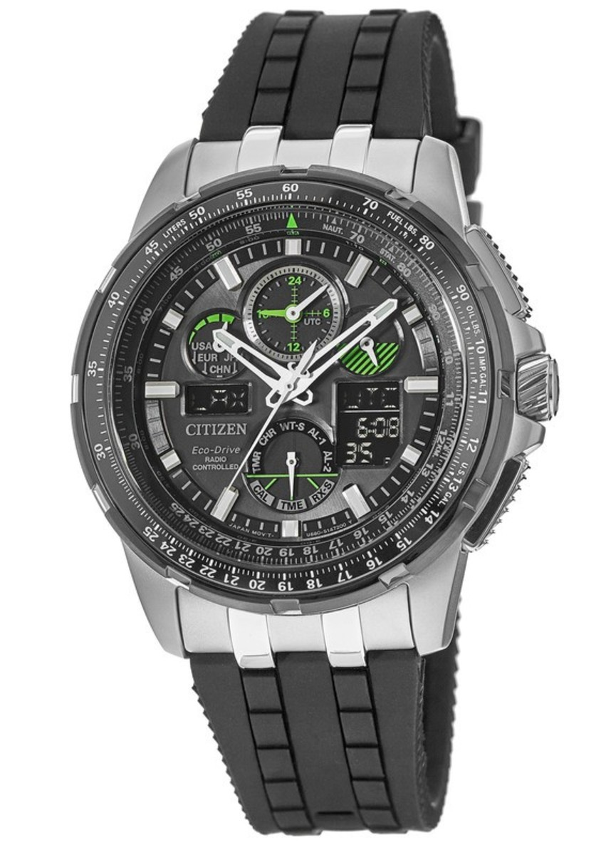 26a567f7f81 Promaster Skyhawk A-T Black Dial Black Polyurethane Strap Men s Watch