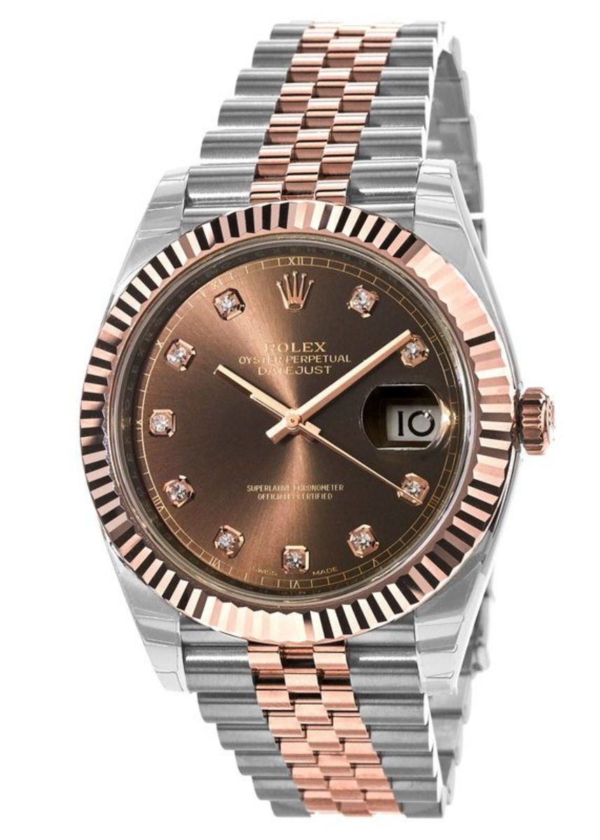 ef968ea009b10 Rolex Datejust 41 Chocolate Dial Steel and Everose Gold Men's Watch ...