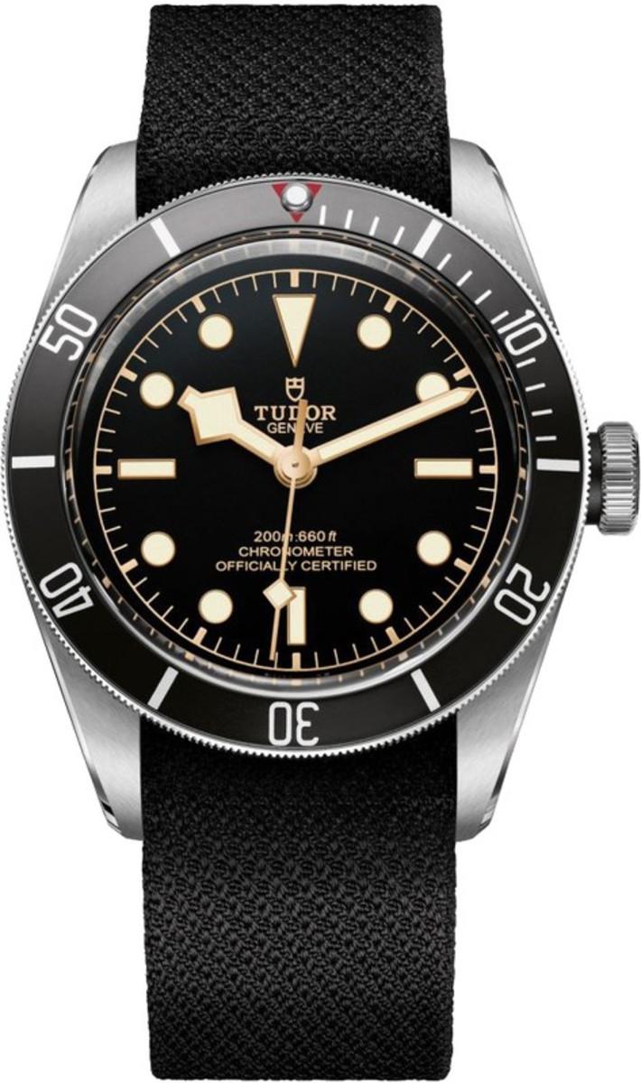 2e346966de655 Tudor Heritage Black Bay Steel Automatic Black Dial Black Fabric Strap  Men's Watch M79230N-0005