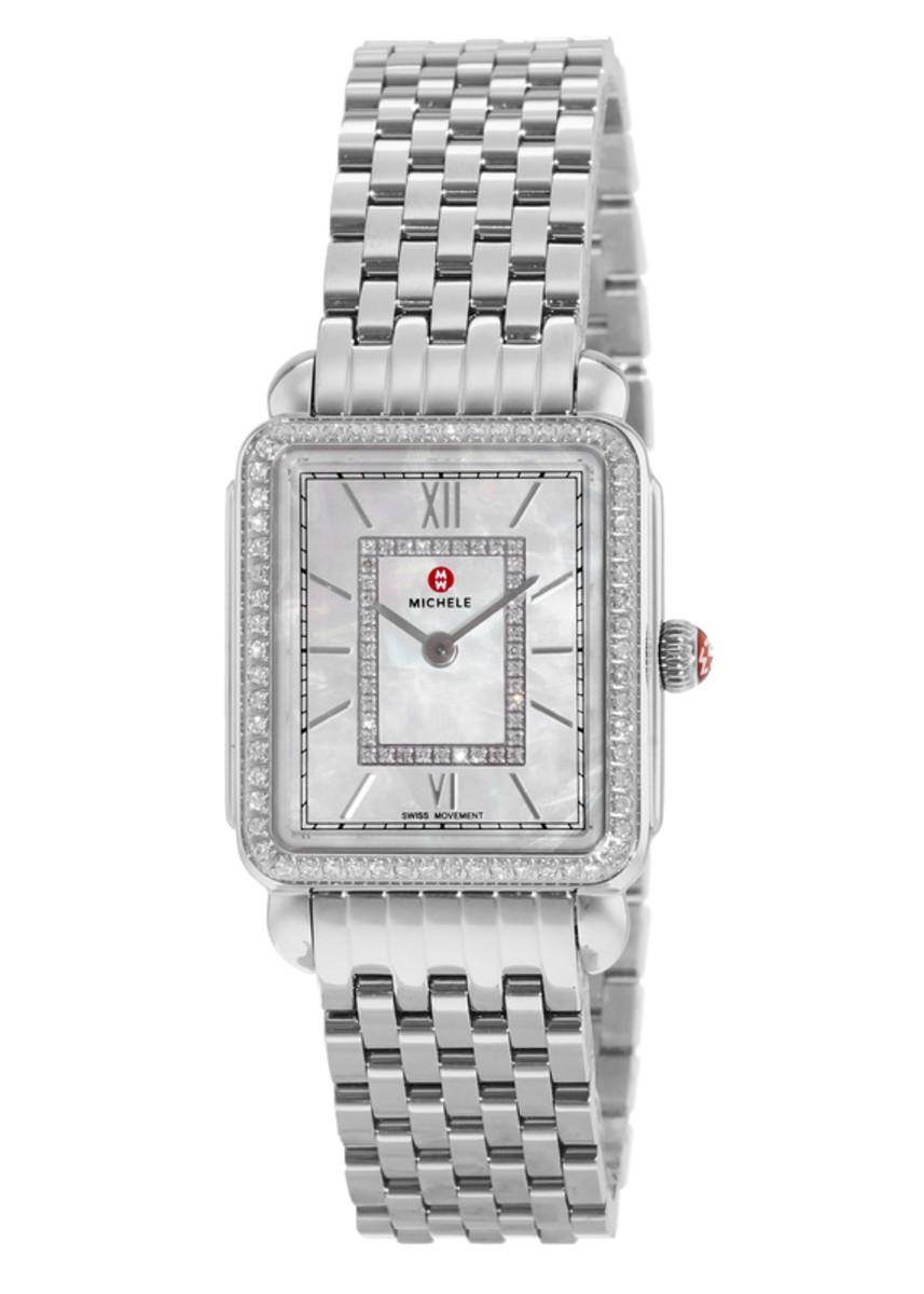 999f150d7d3 Michele Deco II Mid-Size Diamond Dial Women's Watch MWW06I000001 ...