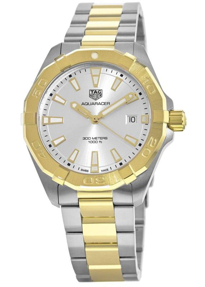 5a961d86e0c62 Tag Heuer Aquaracer 300M 41MM Yellow Gold and Stainless Steel Men's ...