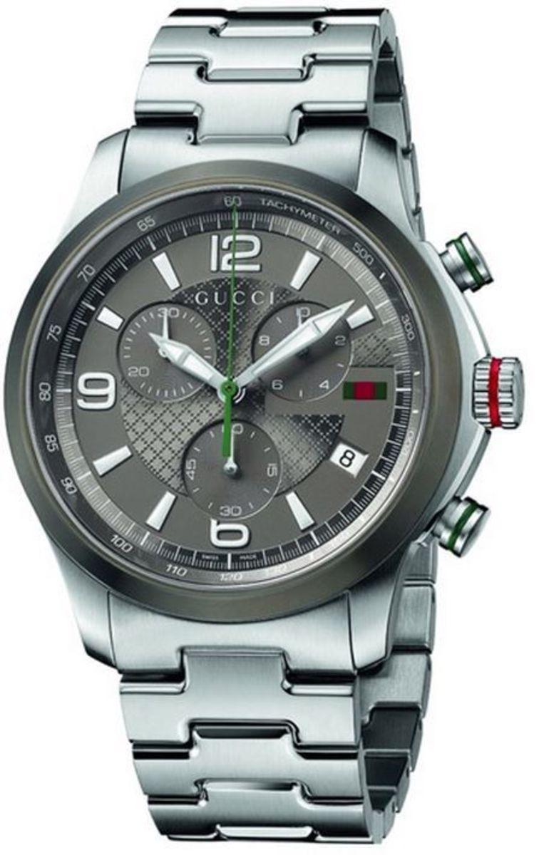 2c838f5c9df G-Timeless Grey Chronograph Dial Steel Men s Watch