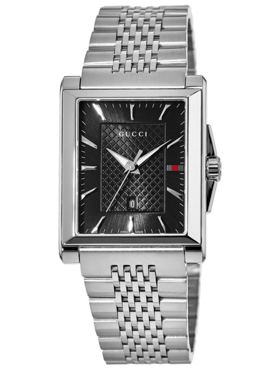 6ab6bb95059 G-Timeless Rectangle Black Dial Steel Men s Watch