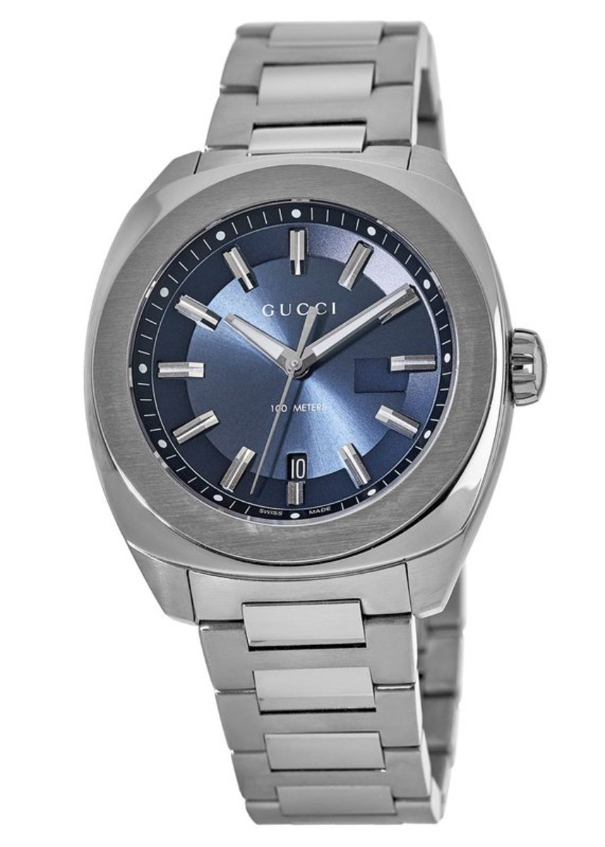 df74f02dedd Gucci GG2570 XL Blue Dial Stainless Steel Men s Watch YA142205 ...