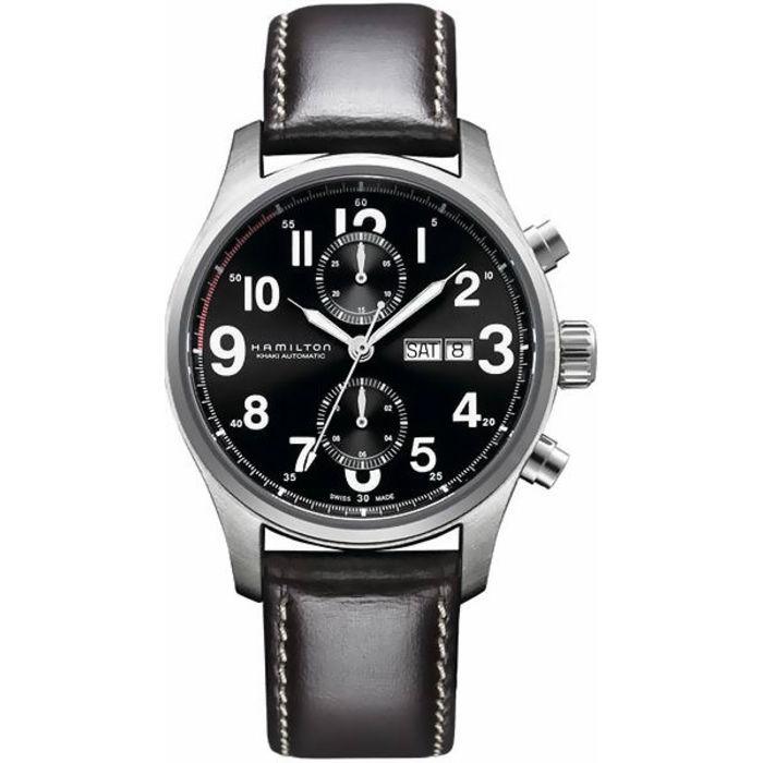 424d96719 Hamilton Khaki Field Officer Auto Chrono Men's Watch H71716533 ...