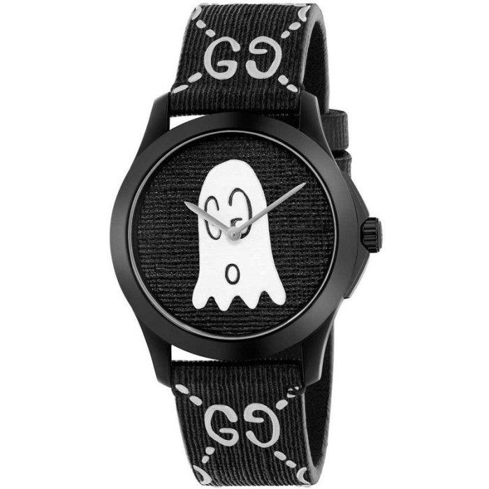 4081921d1e6 G-Timeless Black with Ghost Motif Dial Men s Watch