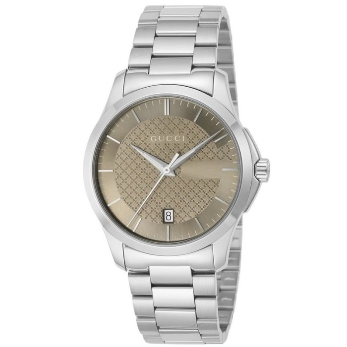 ed523bdaf7d G-Timeless Brown Dial Stainless Steel Unisex Watch