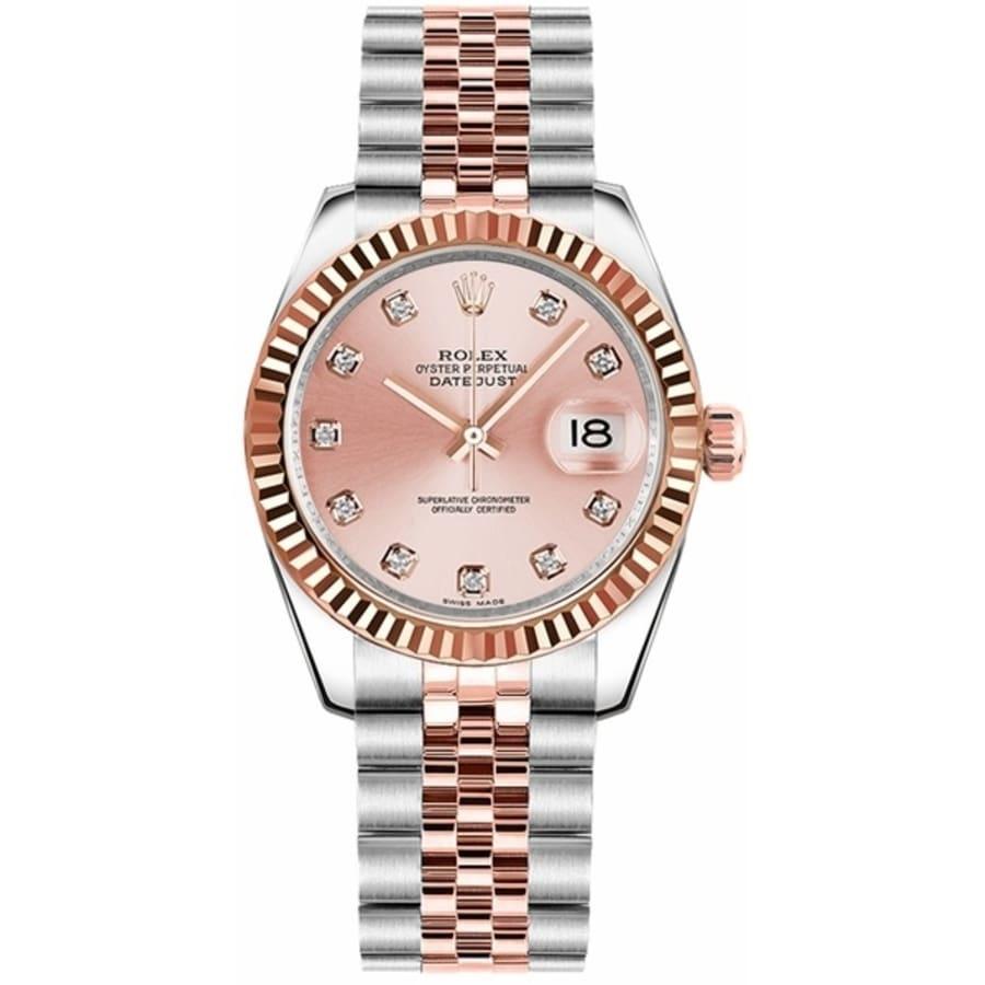 Rolex Datejust 31 Pink Diamond Dial Women\u0027s Watch M178271,0034