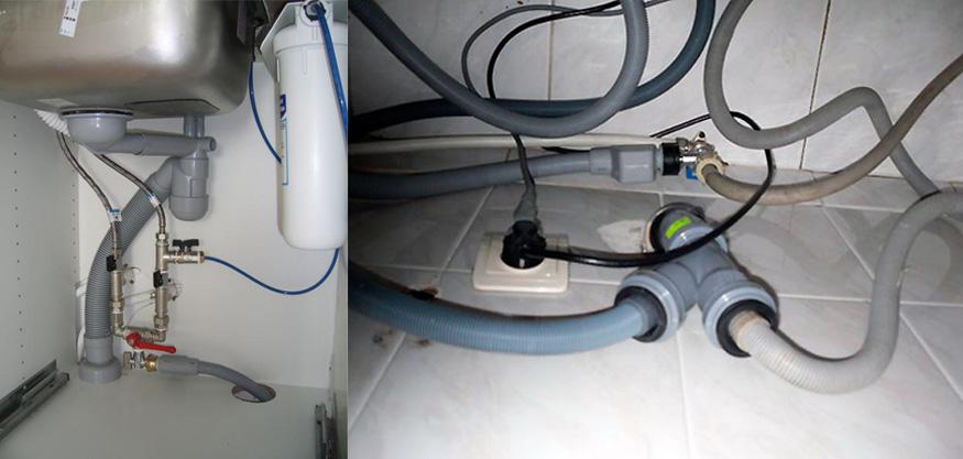 Подключение посудомоечной машины к трубопроводу