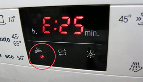Мигает кран на посудомоечной машине