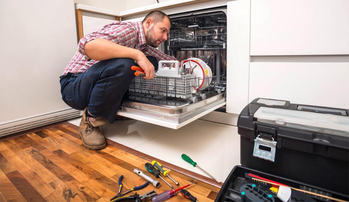 Устранение проблем с течью посудомойки