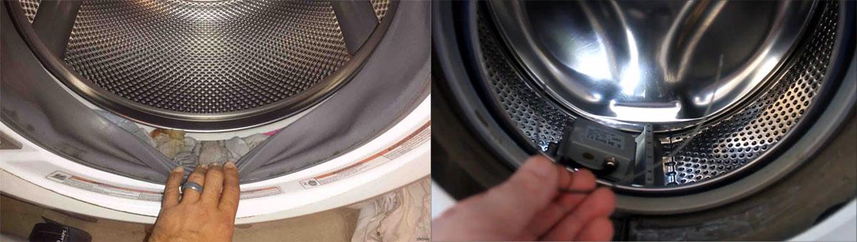Как избавиться от постороннего предмета в стиралке