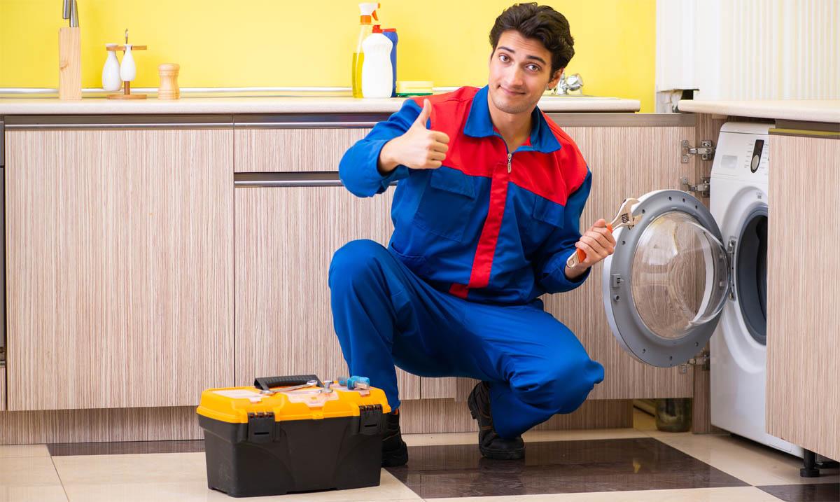 Подключение стиральных машин на дому в Москве