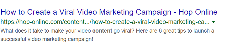 Update your SERP Snippet and Copy - Hop Online