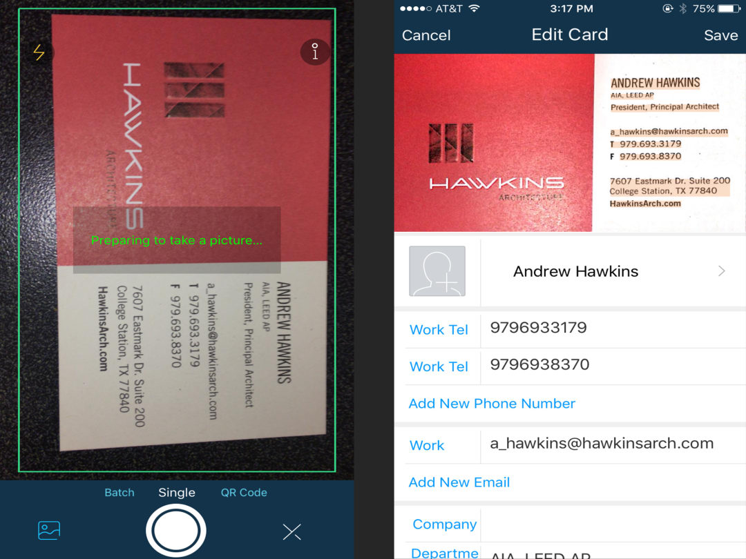 Scan and store business cards with CamCard - AIA